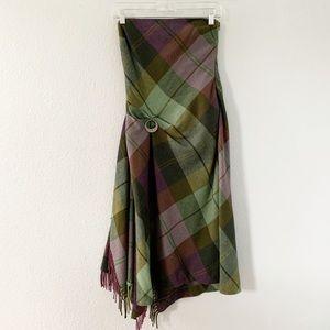 Ralph Lauren Plaid Tartan Strapless Dress Size 2